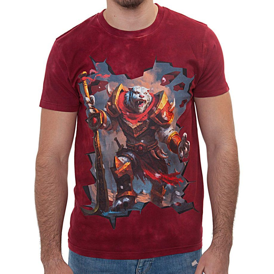 La Camiseta The Guardian tiene un dibujo original de un imponente tigre de combate con armadura de hierro.