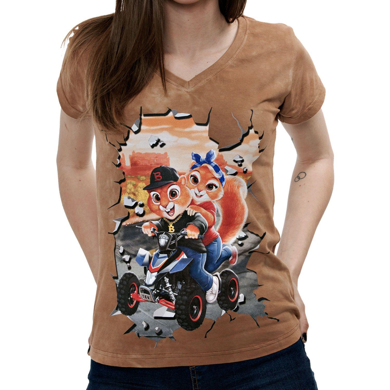 La Camiseta Blaicer´s Pet tiene un dibujo exclusivo de dos intrépidas ardillas como Chip y Chop. En Blaicer encontrarás camisetas divertidas de mujer.